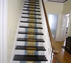 How To Create A Custom Stairway Runner For Less Hometalk | Custom Stair Runners Near Me | Staircase Remodel | Animal Print | Rugs | Basement Stairs | Stair Treads