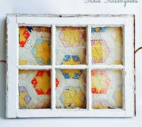 repurposing a tattered vintage quilt for my spring mantel, crafts, fireplaces mantels, mantels, repurposing upcycling, seasonal holiday decor
