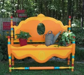 15 Whimsical Ways to Use Old Furniture in Your Flower Bed ... on Whimsical Backyard Ideas id=43504