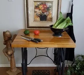 Sewing Machine Trestle And Butcher Block Table Hometalk