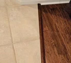 transitioning hardwood floor to tile