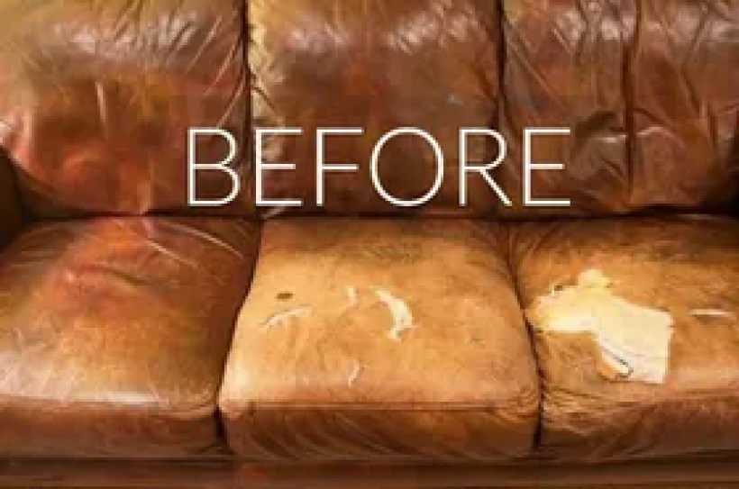 how to fix rip in bonded leather couch