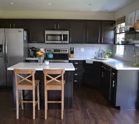 12 Reasons Not to Paint Your Kitchen Cabinets White | Hometalk on Backsplash Ideas For Dark Cabinets And Light Countertops  id=61096