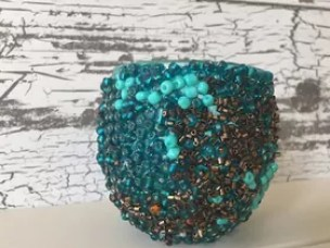 seed bead vase candle holder and more, gardening