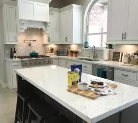 White Kitchen Remodel Reveal With Lusso Silestone Quartz