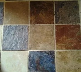 filling kitchen counter grout so tiles