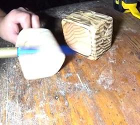 primitive little keepsake box, torching wood