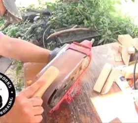 a fun diy bottle opener to make, Another belt sander
