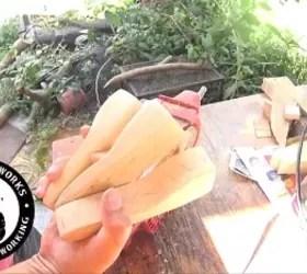 a fun diy bottle opener to make, Batching out handles
