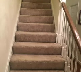 How To Change Stairs From Carpet To Wood Diy Hometalk   Replacing Carpeted Stairs With Hardwood   Stair Tread   Staircase Makeover   Hardwood Flooring   Stair Case   Laminate Flooring