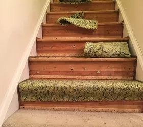 How To Change Stairs From Carpet To Wood Diy Hometalk   Carpet On Wooden Stairs   Dark   Appreciation   Basement   Fitting   Contemporary