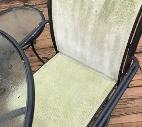i clean mesh patio dining chairs