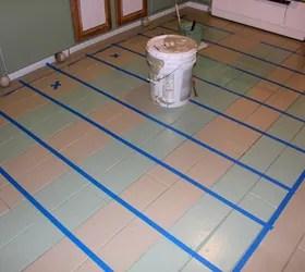 buffalo check painted floor hometalk