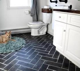 contemporary bathroom floor tile ideas