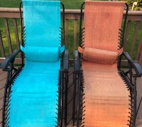 how to paint mesh patio chairs that
