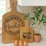 How To Make Farmhouse Decorative Cutting Board Diy Hometalk