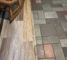 tile floor to match a wood floor