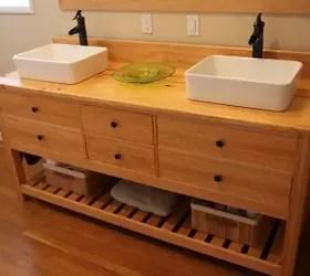 reclaimed wood bathroom vanity | hometalk