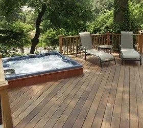 Do you like Hot Tubs on a deck or built in? | Hometalk on Deck And Hot Tub Ideas  id=14848