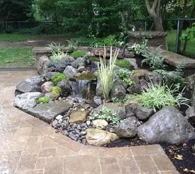 Landscape Garden Design, Waterfalls Water Feature, Patio ... on Water Feature Ideas For Patio id=25313