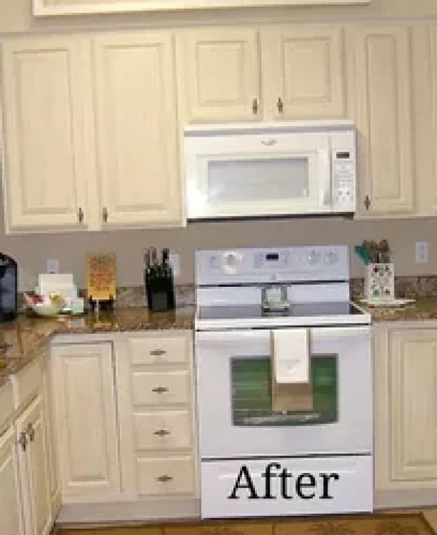 Paint pickled oak cabinets for Kitchen remake