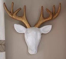 89  Paper Mache Home Decor   Ever Since I Was A Tiny Tot Have     Faux Deer Head Diy Crafts Home Decor