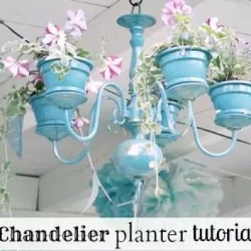 Diy Chandelier Planter Flowers Gardening Repurposing Upcycling