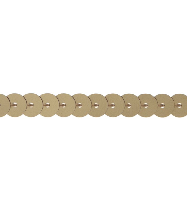 Simplicity Single Strand Sequin Trim 0.25\u0027\u0027 Gold