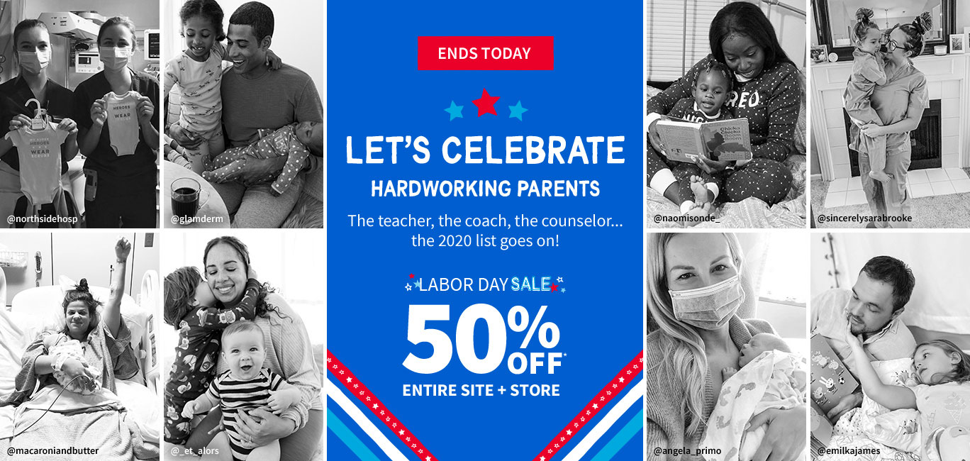ENDS TODAY | LET'S CELEBRATE HARDWORKING PARENTS | The teacher, the coach, the counselor... the 2020 list goes on! | LABOR DAY SALE | 50% OFF* ENTIRE SITE + STORE