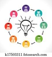Download Sharing idea. Clip Art   k33062686   Fotosearch