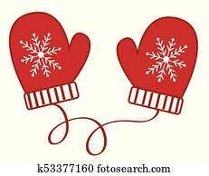 Mittens Clipart Vector Graphics 14193 Mittens EPS Clip
