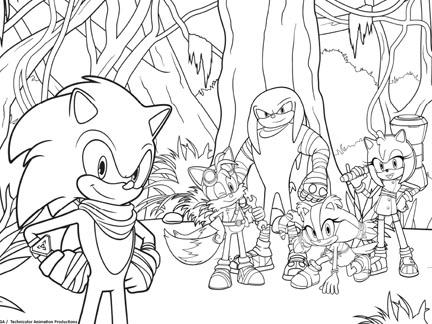 Prt Partez Coloriages Goodies Sonic Boom