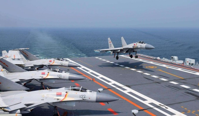 China can now deploy two carrier groups, but more advanced ships are still under construction. Photo: ifeng