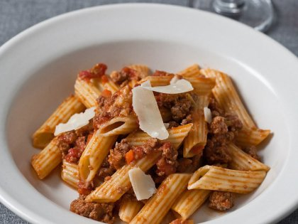 Bolognese on Penne