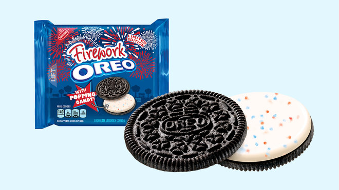 We Tried Fireworks Oreos With Popping Candy Inside | Food ...