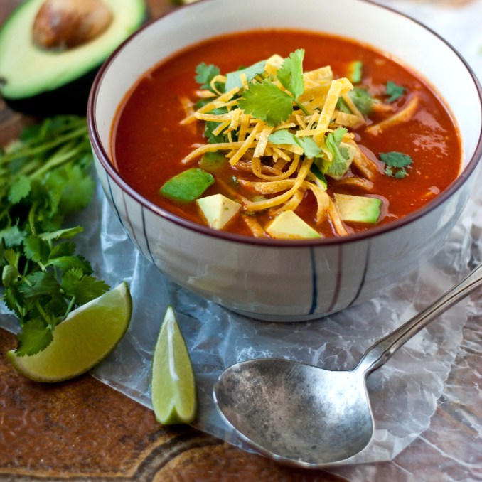Tortilla Soup Recipe - Quick From Scratch One-Dish Meals