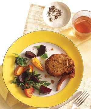pork-chops-roasted-beets