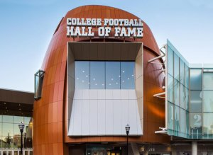 This is the College Football Hall of Fame