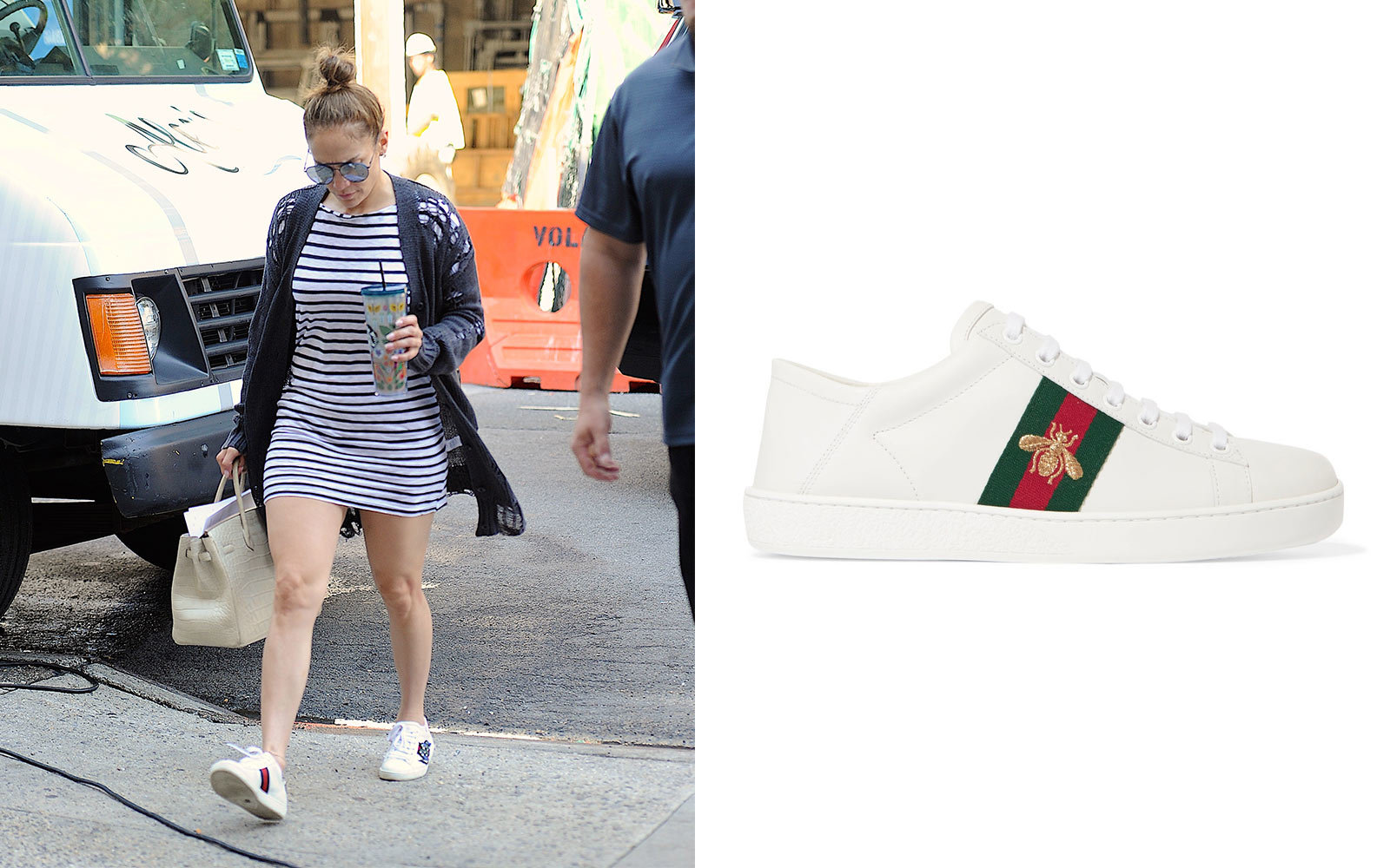 14 Sneakers Celebrities Love to Wear on the Go   Travel   Leisure Jennifer Lopez in Gucci Sneakers