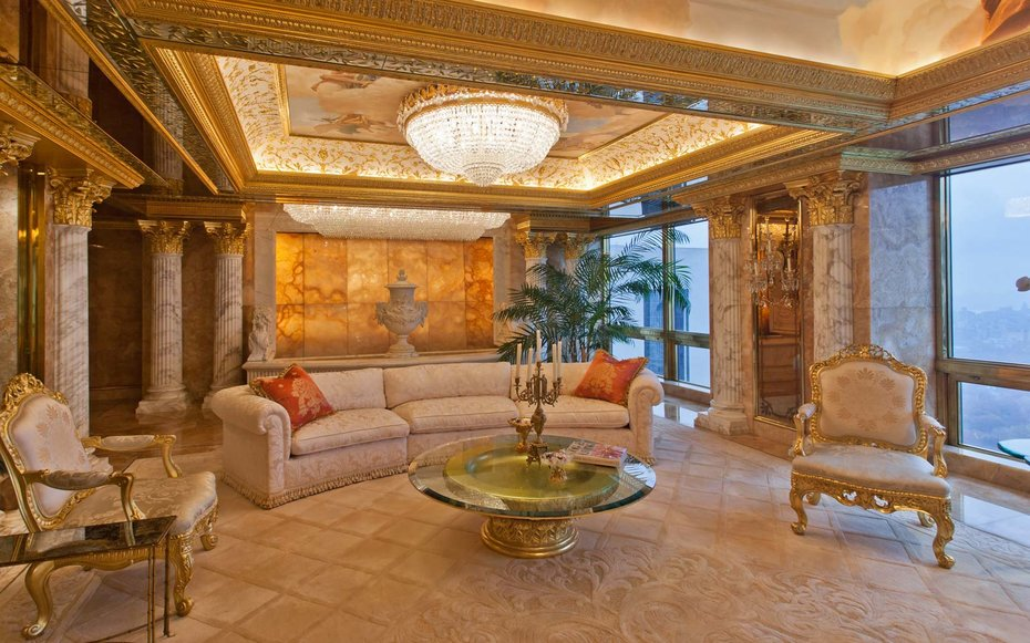 Image result for images of Trump apartment in Trump Tower