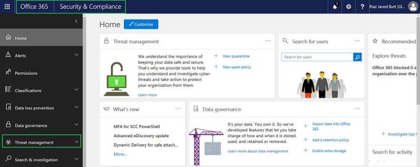 Office 365 Threat Management