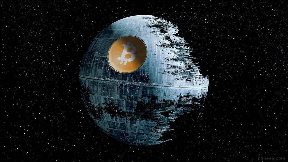 Até o Darth Vader tem um nó! (Estrela da Morte)