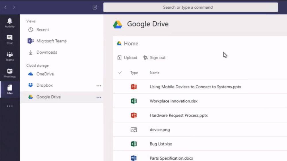 Google Drive (for Microsoft Teams)