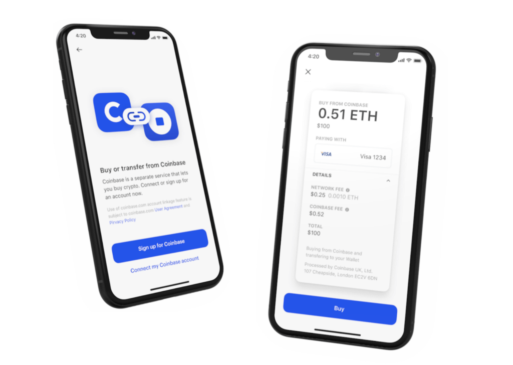 Introducing crypto purchases inside Coinbase Wallet