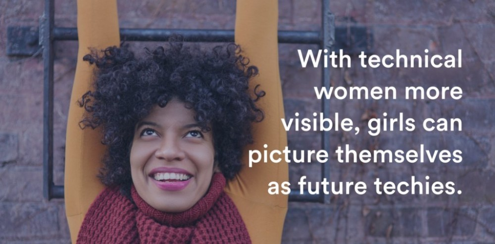 With technical women more visible, girls can picture themselves as future techies