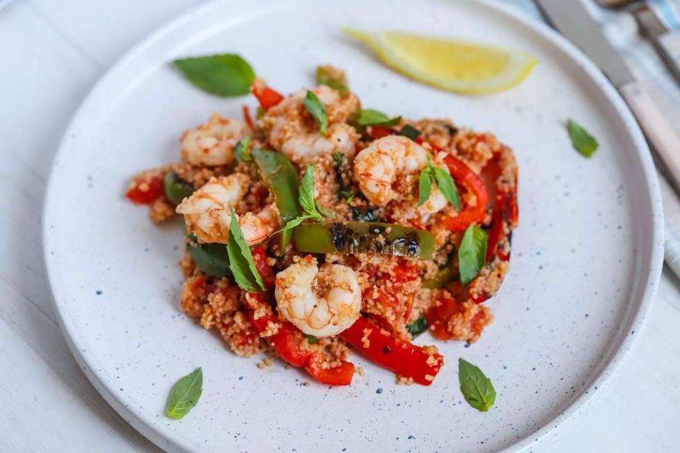 Shrimp couscous salad by FIT & NU