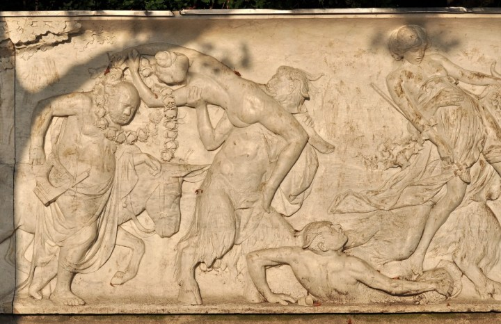 Ancient Greek revelers give themselves over to Dionysian liberation