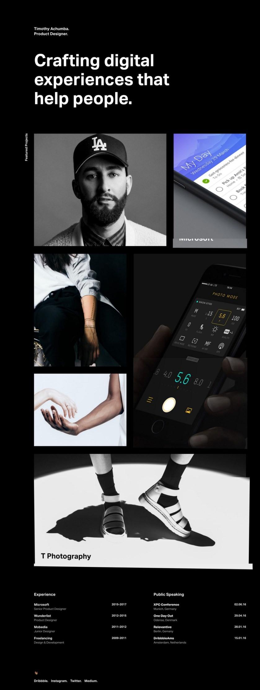 1*Ukj6nQQBDXKonnTHDqcWsQ 10 Great Portfolio Websites from Microsoft Designers Design Random