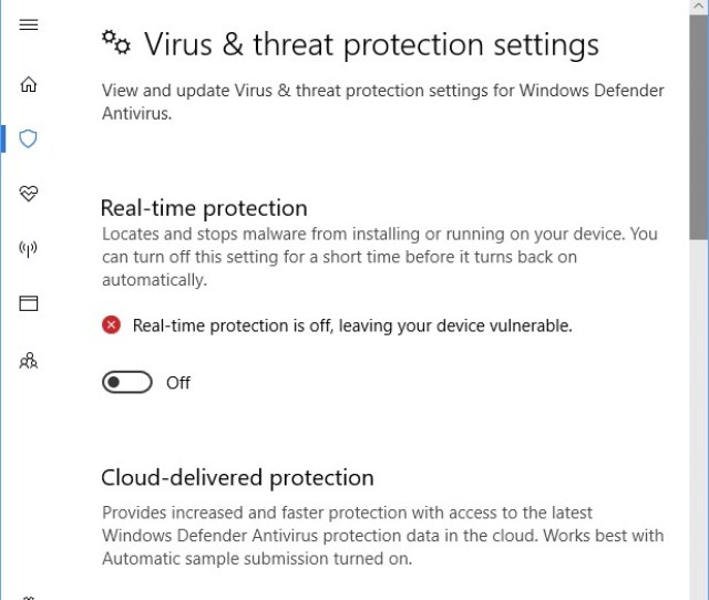 Windows Defender Real Time Slow Down Protection