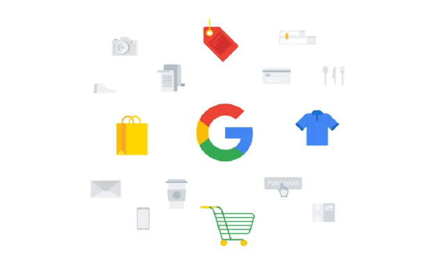Google Smart Shopping campaigns智能行銷的示意圖。